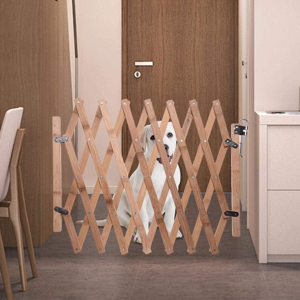 hinffinity - Puerta de Seguridad para Mascotas, de Madera, retráctil, con Puerta corredera para Perros: Amazon.es: Productos para mascotas