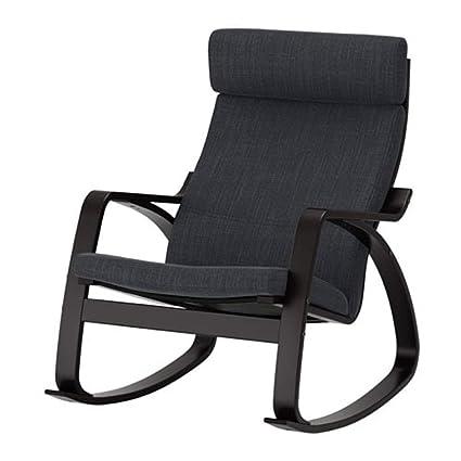 Sensational Amazon Com Ikea Poang Rocking Chair Black Brown Hillared Spiritservingveterans Wood Chair Design Ideas Spiritservingveteransorg