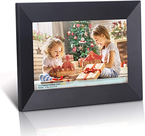 Dhwazz 8 Inch 16GB WiFi Digital Photo Frame, IPS Electronic Digital Frame with LCD Touch Screen, Wall-Mountable, Display and Share Photos Instantly via Mobile APP