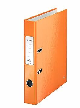 Leitz, Archivador de Palanca, Naranja Metalizado, A4, Lomo de 5,5 cm ancho, 180° WOW, 10060044: Amazon.es: Oficina y papelería