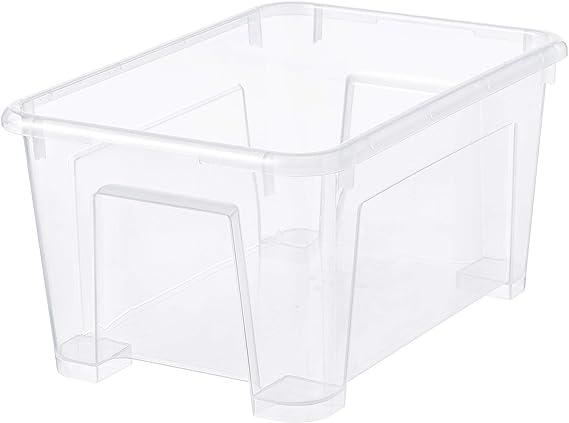 IKEA SAMLA - Caja, transparente: Amazon.es: Hogar