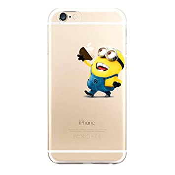Funda Minion cogiendo Manzana Transparente para iPhone 6/6s ...