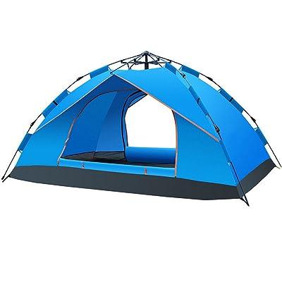RFVBNM Double-Decker Outdoor Supplies Spring tente automatique 3-4 personnes tente camping