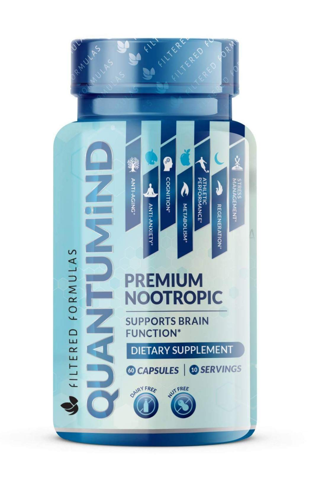 Nootropics Brain Supplement - Focus Supplement for Memory :: Concentration :: Clarity :: Energy - Mental Health and Memory Supplement for Brain with Ashwaganda - QUANTUMiND by Filtered Formulas (60) by Filtered Formulas