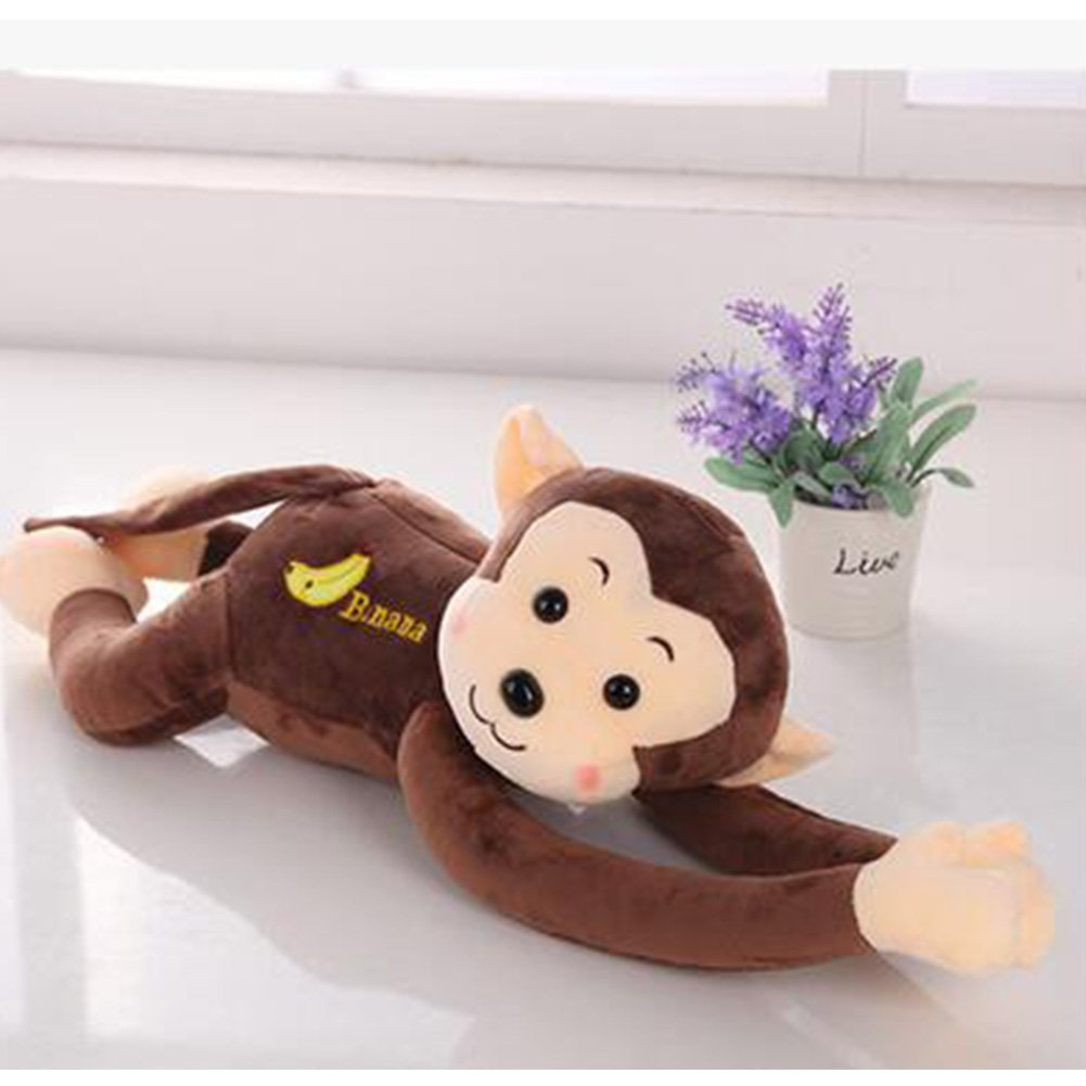 WuKong 25.4'' Nursery Décor Gift Curtain Straps Plush Toy Long Arm Monkey (Brown)