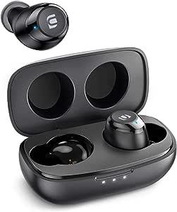 UGREEN Hitune True Wireless Earbuds TWS Bluetooth Earphones in-Ear Stereo HiFi Headphones with Mic Wireless Bluetooth 5.0 Earbuds-27h Playtime, Touch Control, CVC8.0 Noise Cancelling, IPX5 Waterproof