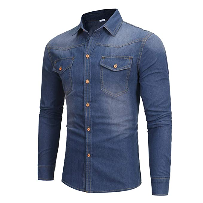 Amazon.com: Jade Hare - Camisa de vaquero de manga larga ...