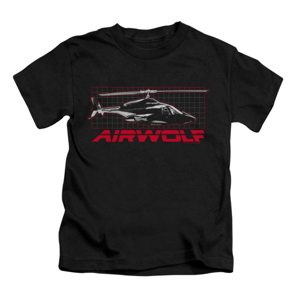 Airwolf Helicopter Military Action TV Series Grid Little Boys T-Shirt Tee