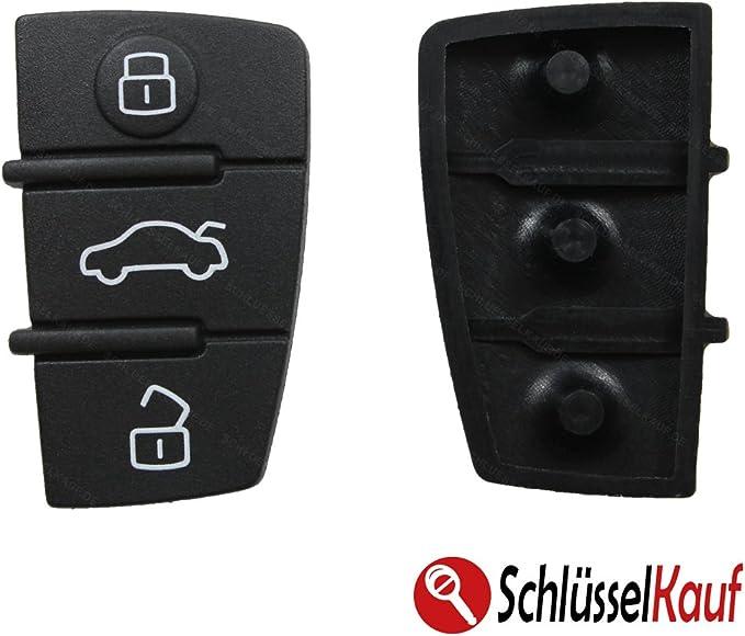 Tastenfeld Gummipad Gummi Gummitasten Für Schlüssel Fernbedienung Klappschlüssel 3 Tasten Ersatz Keypad Rubber Pad Neu Auto