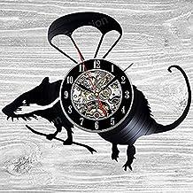 Rat Gift Wall Clock Vinyl Record Art Decor Vintage