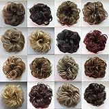 PRETTYSHOP Hairpiece Hair Rubber Scrunchie Scrunchy Updos VOLUMINOUS Curly Messy Bun Brown mix # 32AH12 G34B