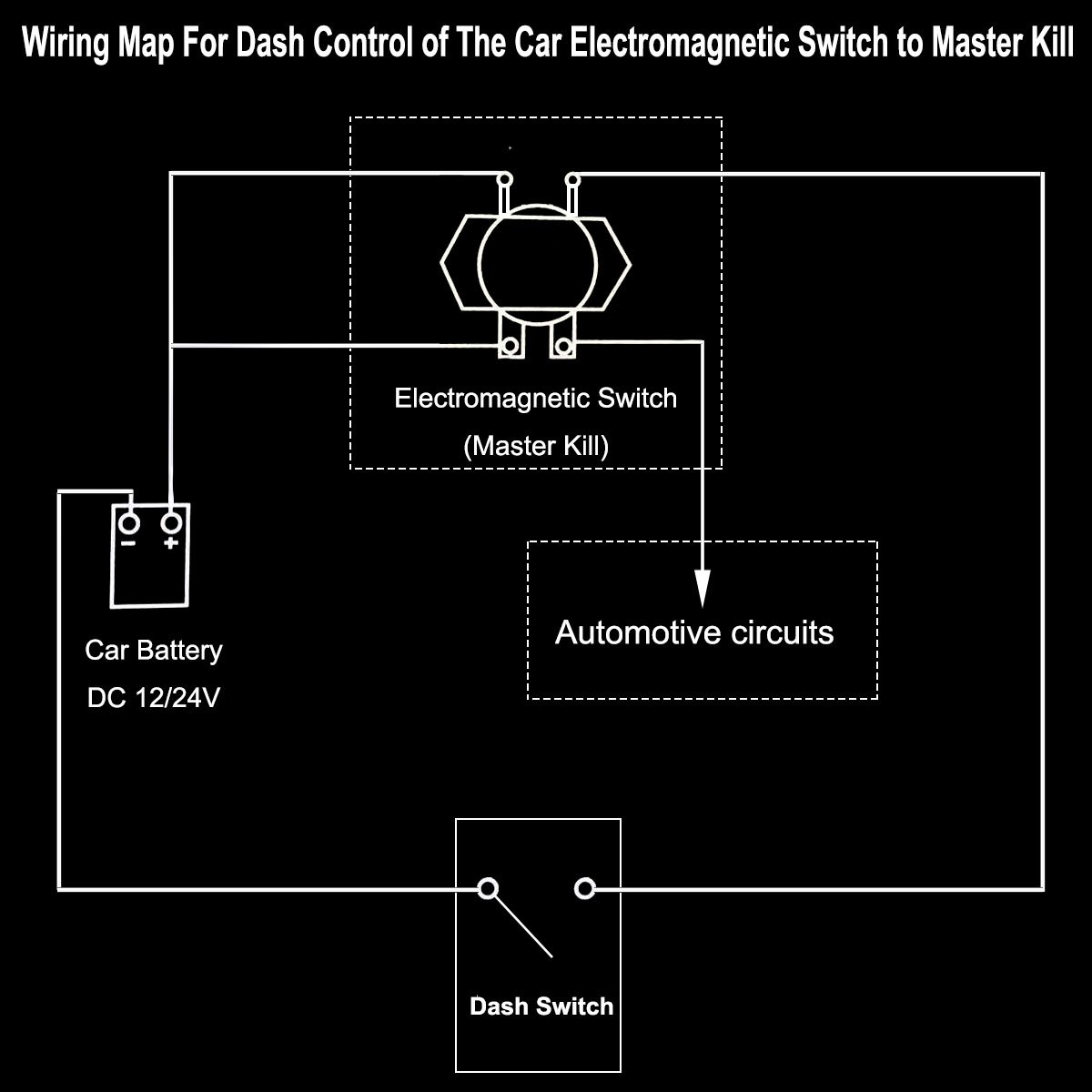 12V Car Auto Vehicle MotorBoat Battery Electromagnetic Disconnect Switch, Master Sd Winch Wiring Diagram on