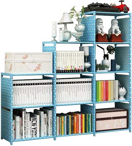 Xerhnan Book Shelf Book Shelves 30 inch Bookcase Folding Book Shelves Bookshelf Blue