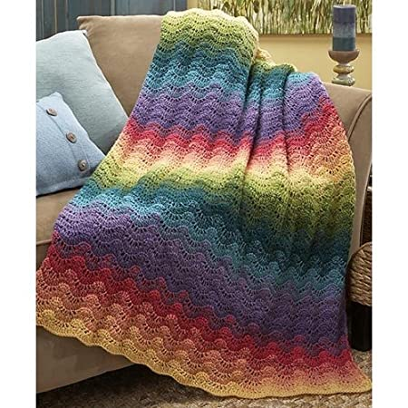 Herrschners Northern Lights Afghan Crochet Afghan Kit