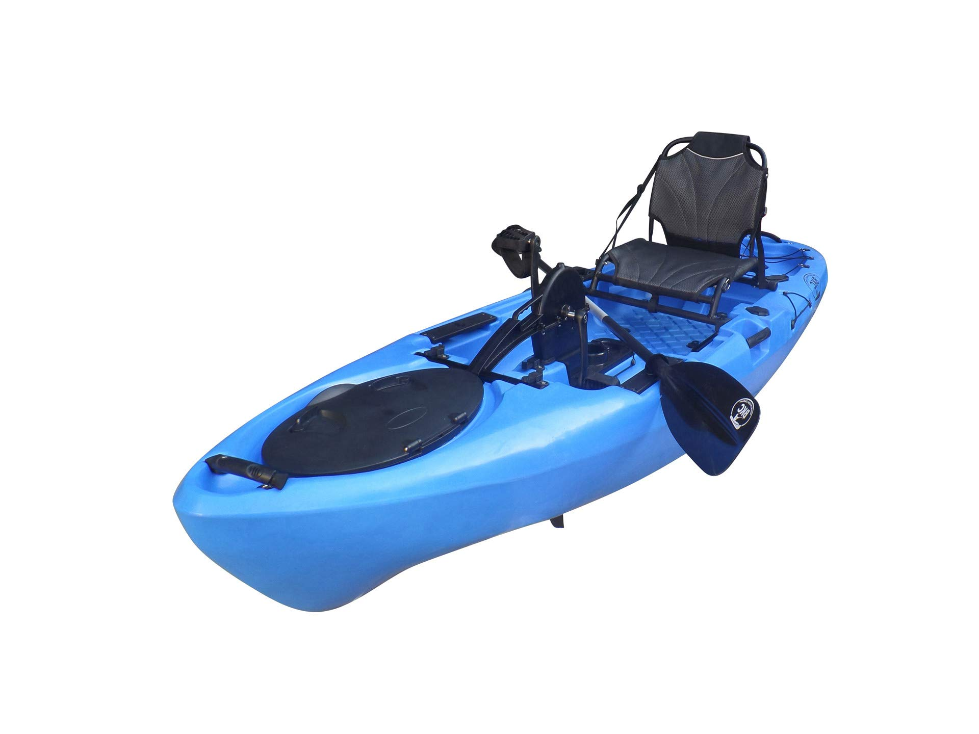BKC UH-PK11 Pedal Drive Solo Rover 10-Foot 6-Inch Solo Kayak Propeller-Driven Sit On Top Single Fishing Kayak with Pedal Drive, Rudder System, Paddle, and Seat Included (Blue) by Brooklyn Kayak Company