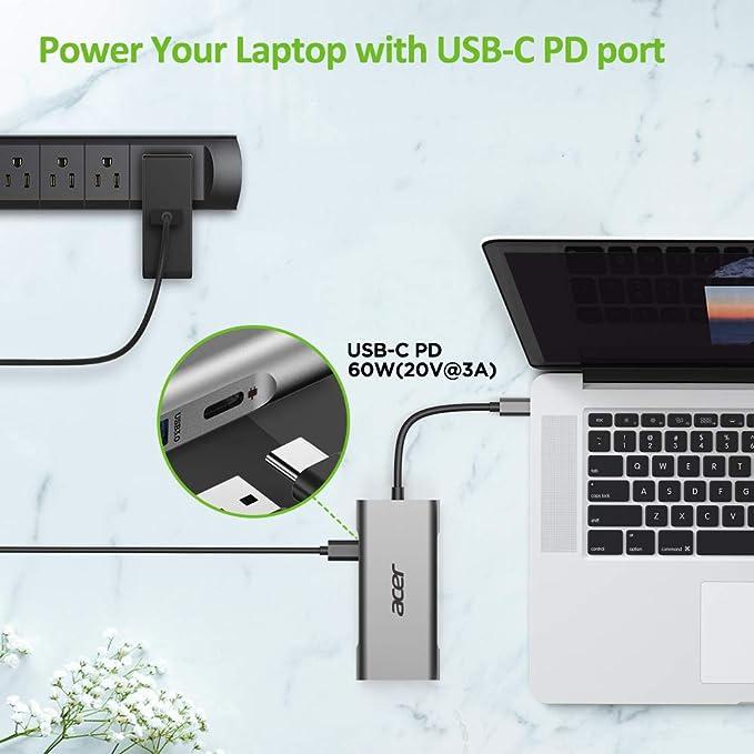 Acer 7 In 1 Mini Dock Silber Computer Zubehör