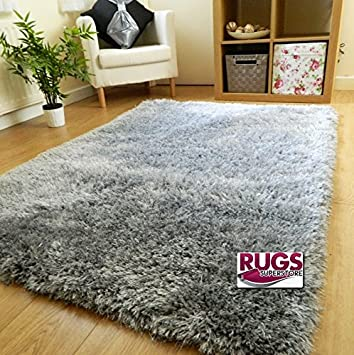 Rugs Superstore NEW THICK SILKY SOFT HAND TUFTED SHAGGY RUG 6CM PILE (60X120CM) (