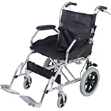 All AID Puncture Proof Self Propel Folding Portable Propelled Wheelchair Travel Transit Chair