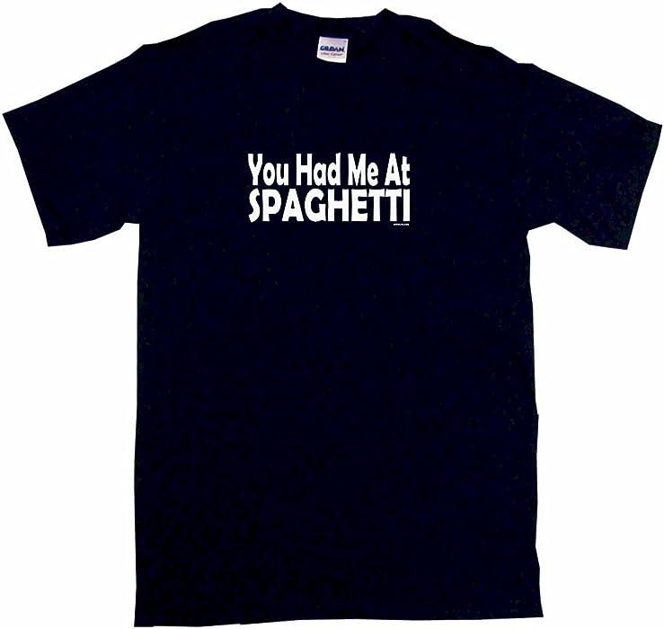9c718b976 Amazon.com: You Had Me at Spaghetti Big Boy's Kids Tee Shirt Youth ...