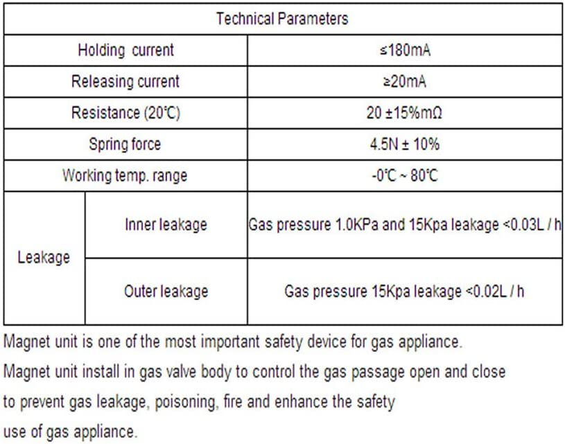 MAG VALVE MAGNET GAS BURNER VALVE SAFETY FLAME FAILURE SUPERVISION DEVICE MA15