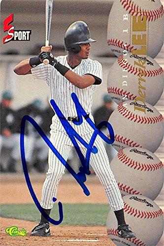 (Derrek Lee autographed Baseball Card (San Diego Padres) 1995 Classic 5 Sport Rookie #120)