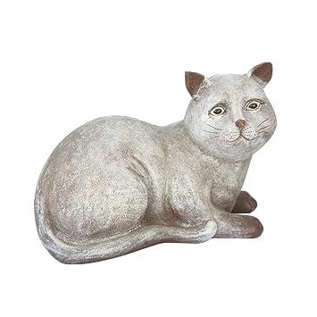 Klerokoh Decoraciones para Gatos Rústicos Adornos Retro Decoración de Animales Decoración del jardín casero (Color : Photo Color): Amazon.es: Hogar