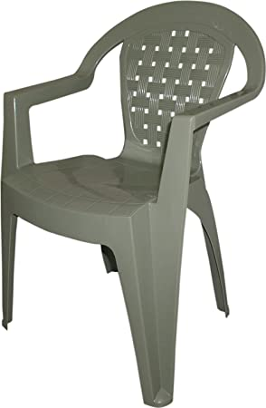 dimaplast silla de exterior jardín (resina antideslizante color pardo normativa