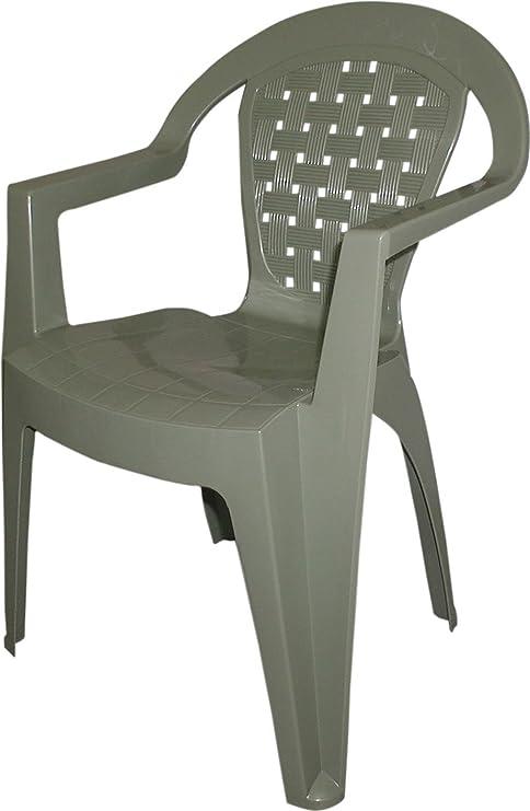 Sedie In Resina Da Esterno.Dimaplast Sedia Da Esterno Giardino In Resina Antiscivolo Colore
