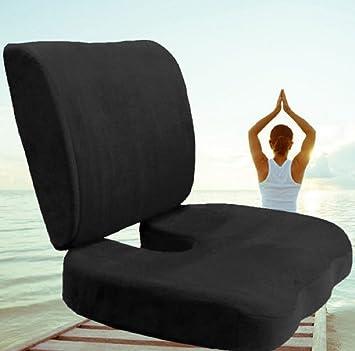 Amazon.com: Espuma de memoria coxis Orthoped asiento + ...