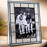 J Devlin Pic 159-57V Blue Stained Glass Picture Frame Tabletop 5 x 7 Vertical Photo Portrait