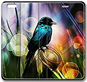 """Abstract Artistic Psychedelic Bird Leather Cover for iphone 6 4.7("""")"""