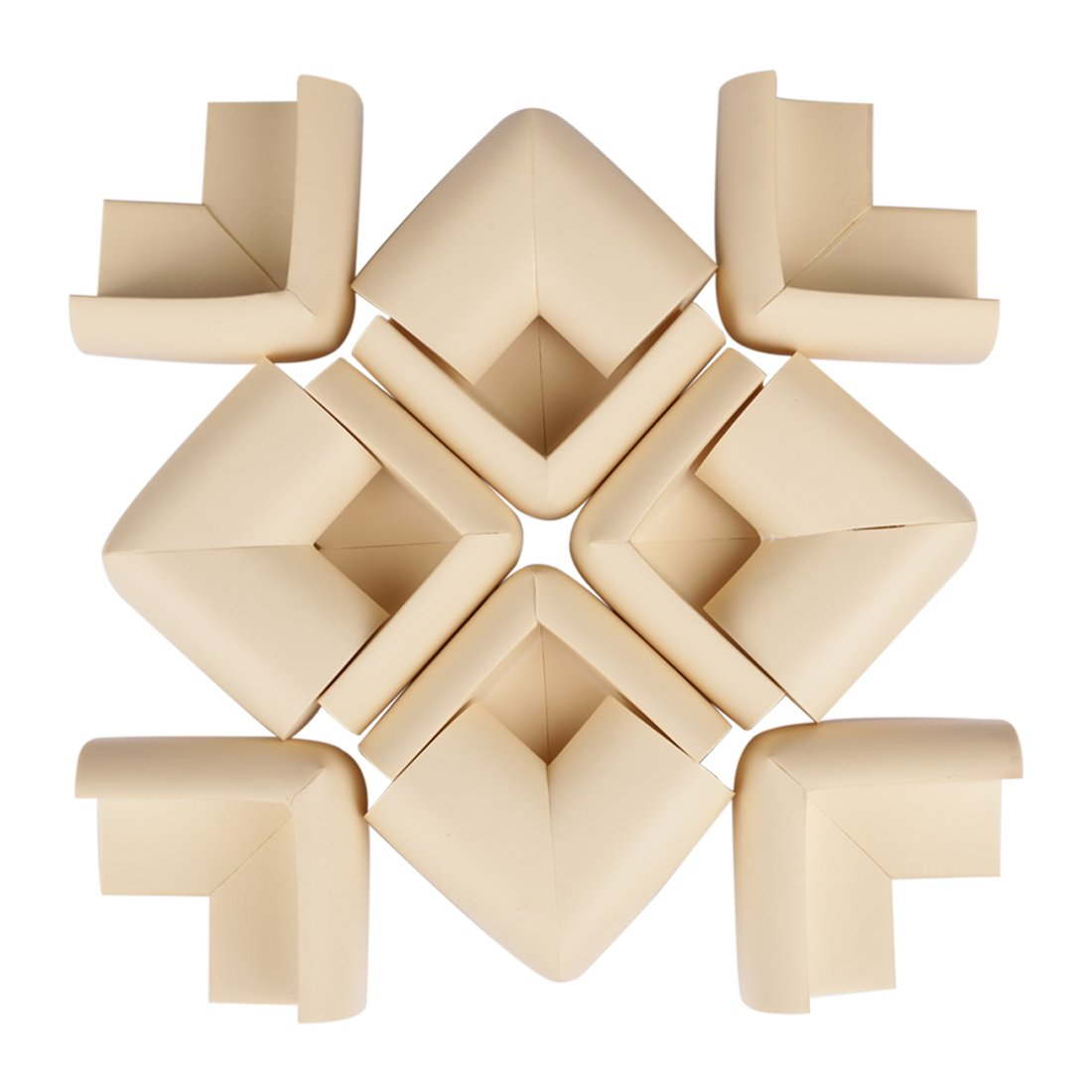LEDMO 12 Pcs Baby Proofing Corner Guards,Soft and Nontoxic Edge&Corner Bumpers, Table Corner Guards for Child Safety Home Safety (Beige)