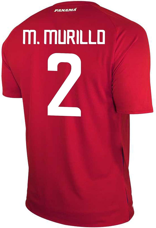 New Balance M. Murillo #2 Panama Home Soccer Men's Jersey FIFA World Cup Russia 2018 (M)