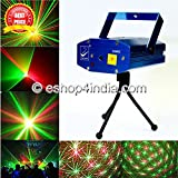 Live Cosmetics Multi Pattern Sound Activated Laser MIni Disco Light Projector Stage Lighting For Party