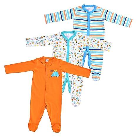 decdeal 3pcs bebé ropa Set para niño 100% algodón Mono Footsies Pelele bebé ropa,