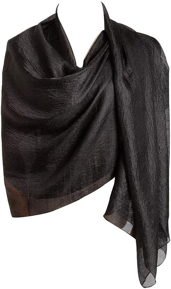 EGELIN Womens Silk Like Scarf Sunscreen Shawl Wrap Cozy Lightweight Scarves For Women