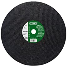 """Griton CCH488 Arbor Industrial Cut Off Wheel for Cutting Masonry Used on High Speed Saws, 20 mm Hole Diameter, 12"""" Diameter, 1/8"""" Width (Pack of 10)"""