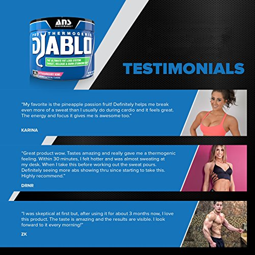 ANS Performance Pro Thermogenic Diablo, Fat Burner for Weight Loss and Targeting Stubborn Fat, Pineapple Passion, 60 Servings