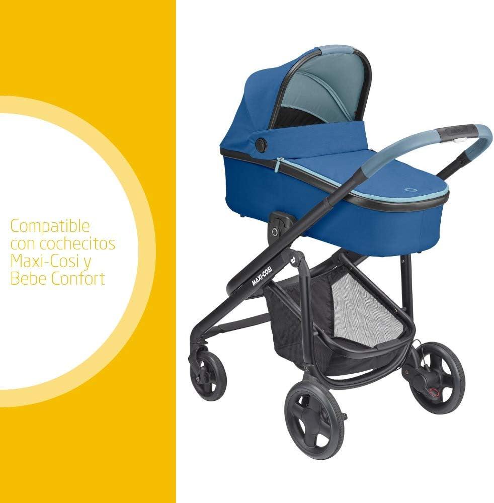 Maxi-Cosi Oria Capazo beb/é ligero y plebagle compacto capota protectora color essential blue colch/ón espacioso y confortable