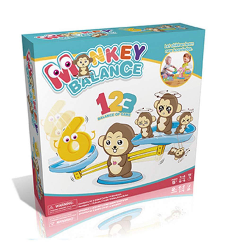 Multicolore Upxiang Monkey Balance Scale Game Early Learning Weight Intelligence Jouets Familiers avec Les Chiffres Convient Aux Enfants De Plus De 3 Ans