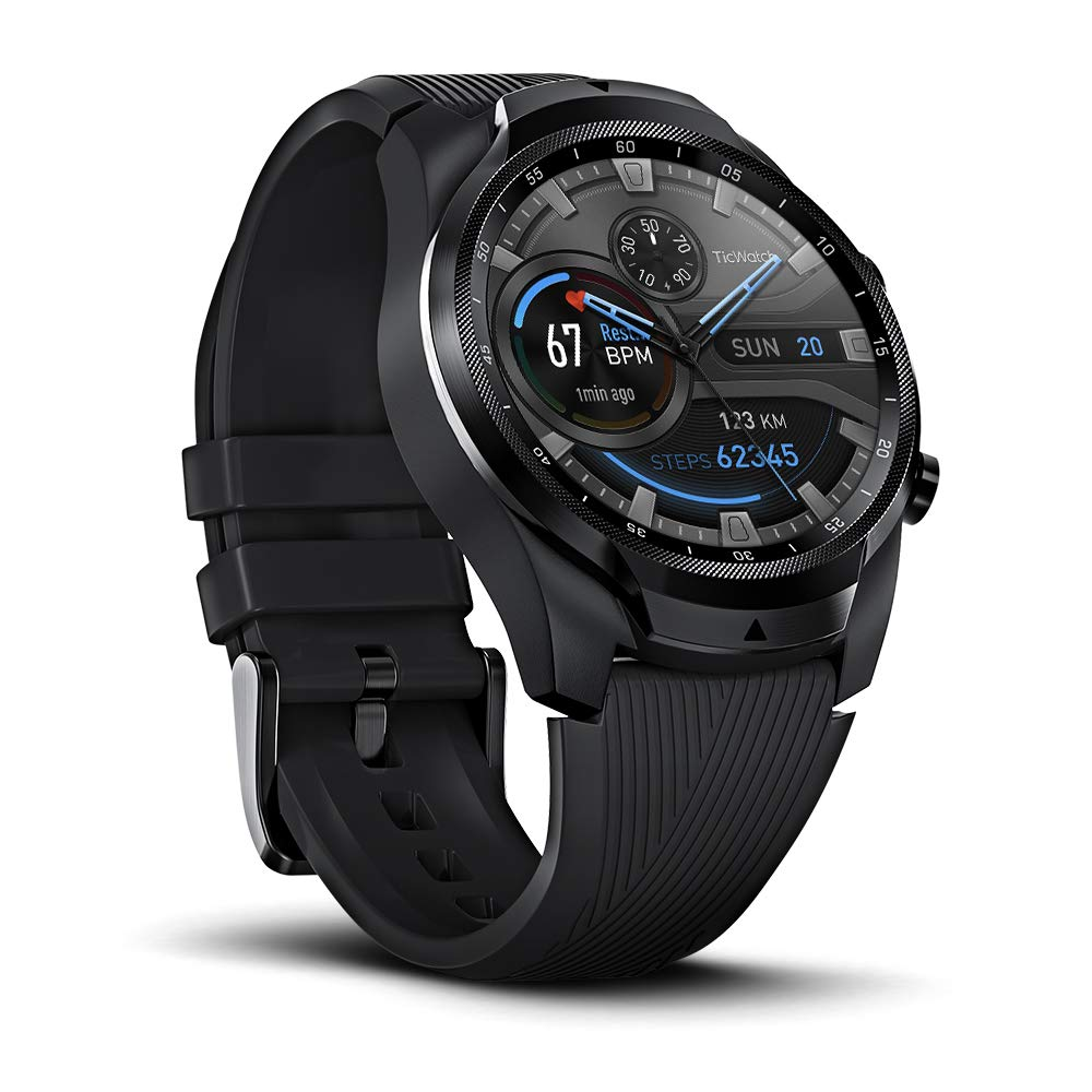 Ticwatch Pro 4G/LTE, Dual Display Smartwatch, Swim-Ready, Long Battery Life, Cellular Connectivity for Verizon Phone Plan Users Available, Only Available in US by Ticwatch