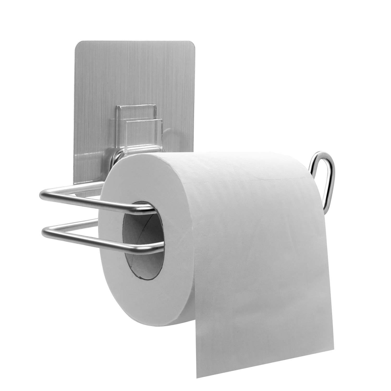 Selbstklebender Wand-Papierhandtuchhalter f/ür Badezimmer und K/üche Selbstklebender Papierhandtuchhalter Edelstahl 304 CLOFY Toilettenpapierhalter ohne Bohren