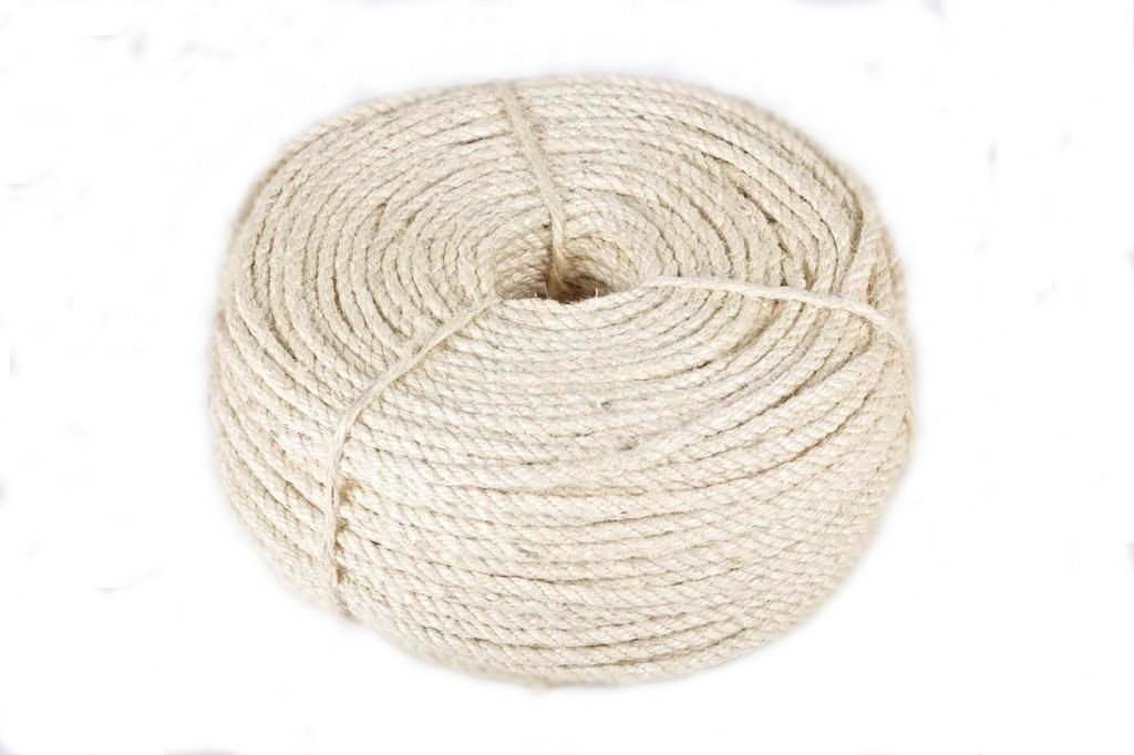 50 meters 16mm Natural Sisal Rope Twisted Braided Decking Garden Pets Cats Crafts (50 meters)
