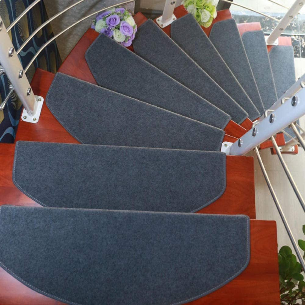 LCJTTBD Antideslizantes para alfombras de Escalera Escalera Escalón almohadillado Plástico Libre Autoadhesivo Escalera Alfombra Hebilla mágica Juego de 15 Piezas Grey_65 × 24 + 3cm: Amazon.es: Hogar