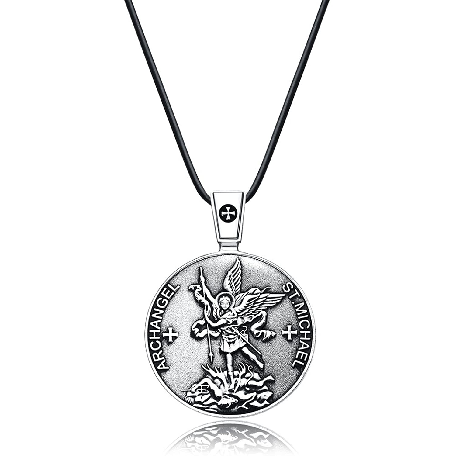 st ebay orthodox cross silver shield archangel p russian pendant saint s michael necklace