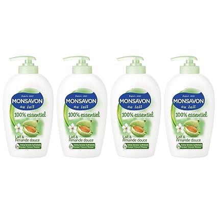 Monsavon jabón líquido y leche de almendras 250ml - Conjunto de 4