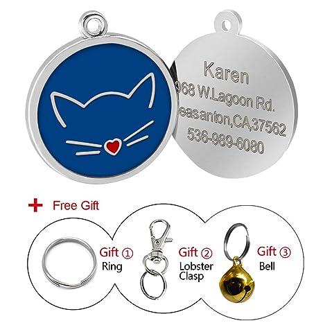Placa de identidad Berry personalizada para perros y gatos con grabado