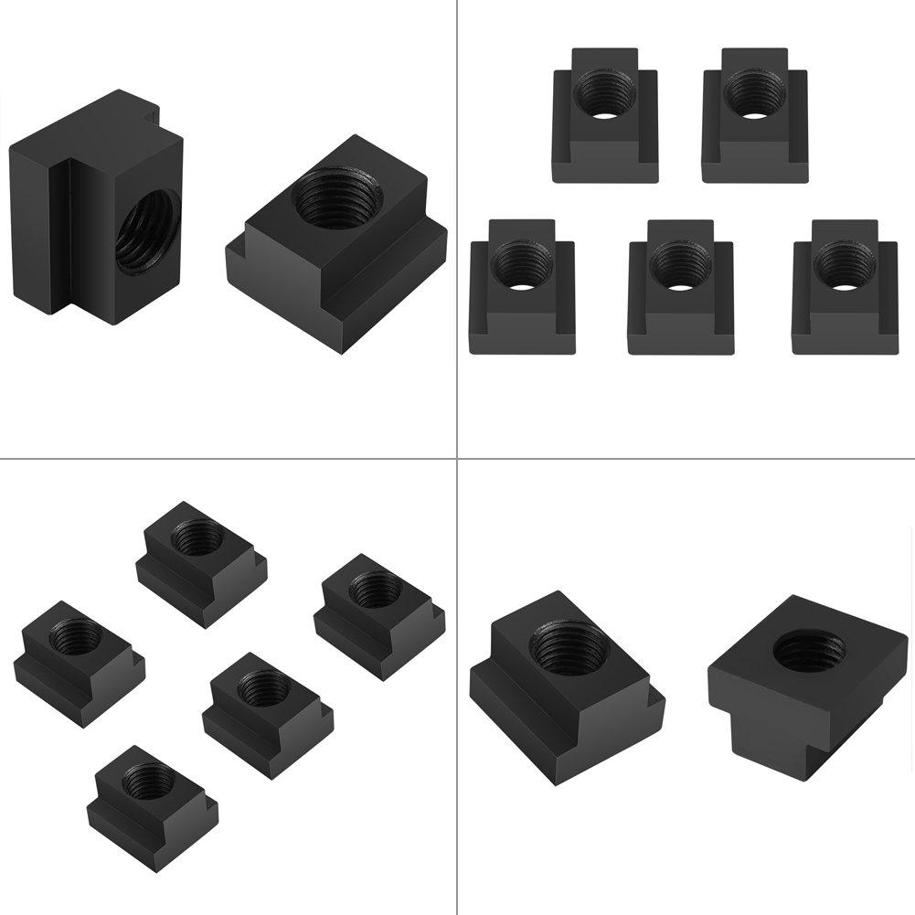 T-Nutenstein pcs 5 Stk M16 Schwarzoxid-Finish-T-Nutensteine Gewinde passen in T-Nuten in Werkzeugmaschinentabellen