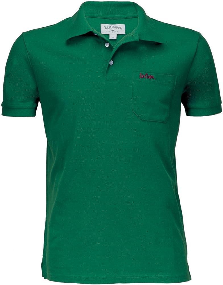 Lee Cooper om55635-368 Polo, Verde (Verde Basilico 368), Medium ...