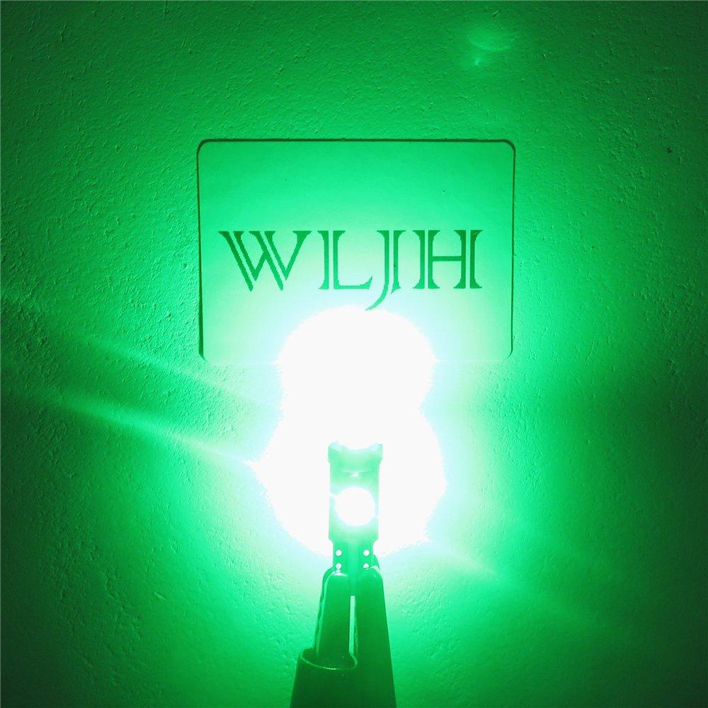 Amazon.com: WLJH 6pcs T5 73 74 Instrument Cluster Dash Shifter Indicator 3-3030SMD 1.5W LED Light Bulb w/Twist Lock Socket for Volkswagen,Green: Automotive